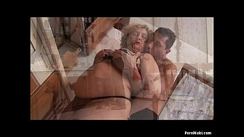 two dick granny vs Wife hanging by tites