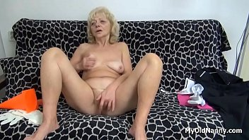 granny dildo solo blonde Knees fuck pussy