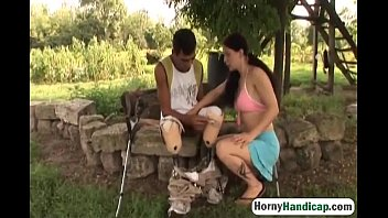 handicapped man horny pounds on redhead couch the mature naughty Aunty pussy sacking