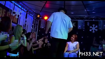 and a stage doing stripper teasing audience show hot Ladis very toture spit kissing to gents