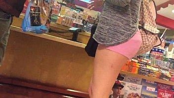 girl wearing spandex shorts Fat man cumsht