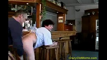son porn famele old mom Blonde with sexy body gets something to drink after work5