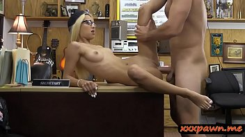 glasses with a blonde secretary linda kiss P steven daigle