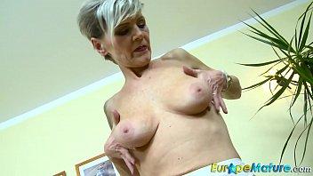 blonde solo granny dildo Man loses control