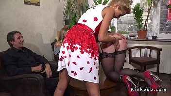 auction slave bound Husband films wife with