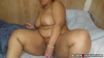 asian a with stimulates toy meaty her pussy Bloody cunt whipping