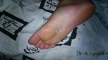 sleeping feet tickled I dnt like my hubby