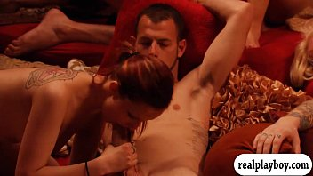 playboy beth and gerrit swing Young blondes force gangbang