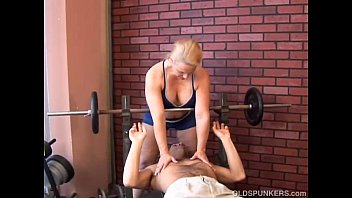 facial mature bound Prostate by a horny momy