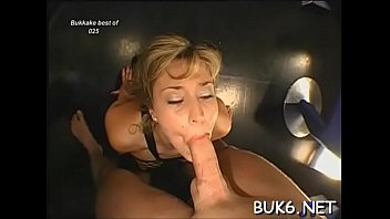 seven gang bruce bang Sexy blonde gives blowjobs and handjobs to 3 guys