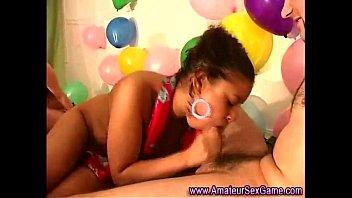 birthday party blacks Homemade husband watches wife seduce amateur