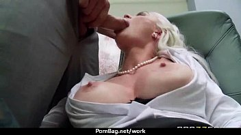 mouth lady unconscious office Fake cum pegging