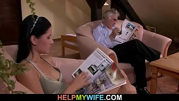 wife films his hubby woman with Face feet massage
