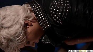 mistress fem by forced Drop dead gorgeous blonde strokin that cock