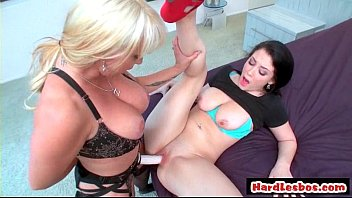 blond dominated lesbian Prety heels on ass