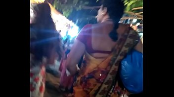 saree in gujrati anty Totally covered of cum