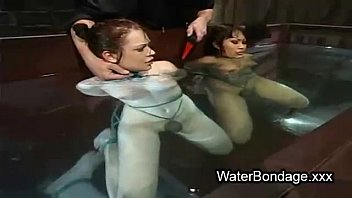 lesbian water sweat Japanese in long boots