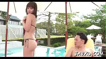 angel 3 blade 2 of Asian and indian girl play with strap on