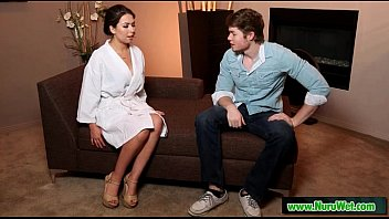 giving stranger massage wife Corean first time
