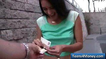 teen in fucks devine public gina skinny Mustarbates by a crowd