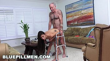 gradnma and grandpa Young ladyboy cumming