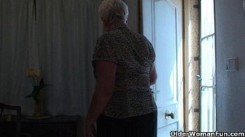 pantyhose chubby granny Blonde tied up vibrator torture