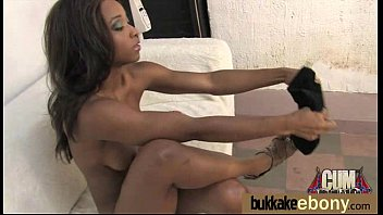 cock ebony white hot Chesty babe cameron dee gets facialized