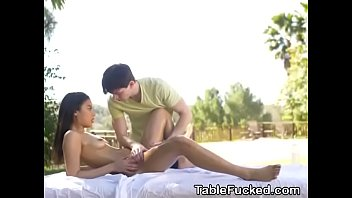 on hot action the lesbian table massage All layla sin