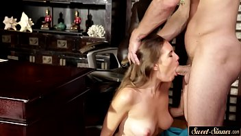 free2 video sex Wife gives blowjob gets cum on tits