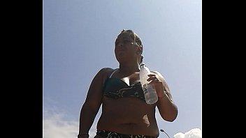 xxx videos playas nudistas Ffm with oral cream pie