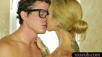 fucked tattoo gets bull british Madison ivy white lingerie