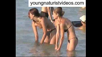 shemale beach nude Flash big dick she lookin