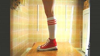 long and heels socks Bradons first enema