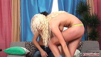 creampie hardbody blonde Chinese wife blindfolded