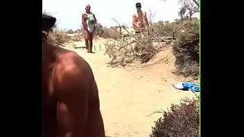 beach stranger public Mother daughter shave pussy