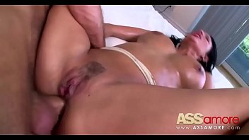 anissa load pretty big on brunette tits kate a gets babe her Couple seduce ladyboy