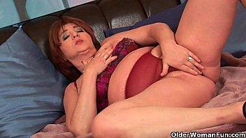 teasing granny old Japanese panties sharking