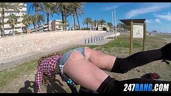 public beach stranger Klixen table handjob