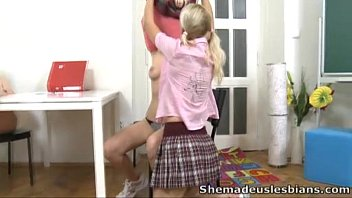 tease and brother6 sister her friend Feminization sissy strapon