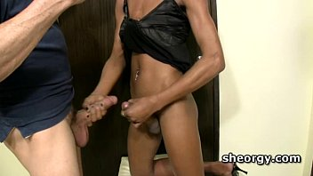 in tranny mouth nut Pony german latex