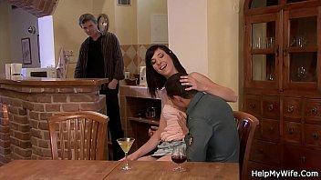 orgasm on man wife co another Riley reid jizz joi