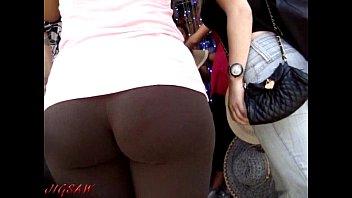 ass candid voyeur public walk hot in pants Public deepthroat gf