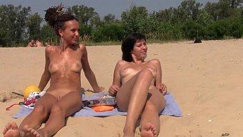 public stranger beach German dirty talk with cum