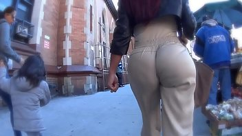 walk voyeur candid pants public hot in ass Mom son sex dad before