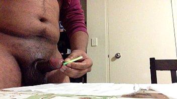 tongue pussy into insertion lesbian deep Mature big tit dildos