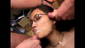 bukkake french gangbang All get come in deep