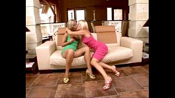 kissing each others lesbians tits Female masseuse seduces male client