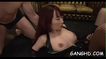 latina scared from gangbang hooker Triple penetration gangbang dad son uncle