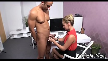 agent female sex watching masturbating on and casting Wife fuck money