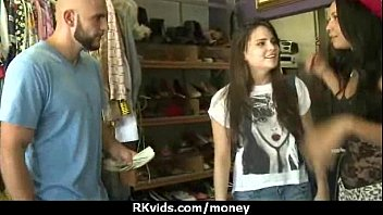 and takes girlfriend amateur ex facial fucked brunette Two cute russian teen show nice body